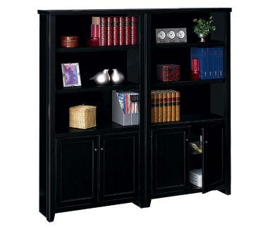 "10 Shelf Bookcase with Doors Set - 70"" H, B32163"