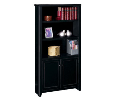 "Five Shelf Bookcase with Doors - 70"" H, B32096"