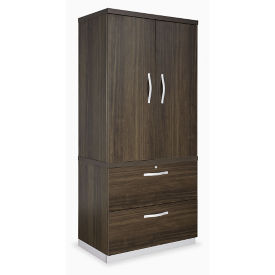 Wardrobe Cabinet with Two Drawer Lateral File, B30202