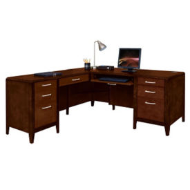 Lancaster L-Desk with Left Return, D35374