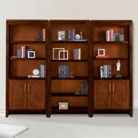 "Lancaster Full Wall Bookcase Set - 96""W, D35356"