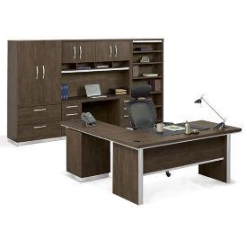 L-Desk Suite with Storage Wall, D31040