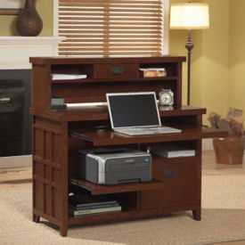 Internet Credenza with Hutch, D35314