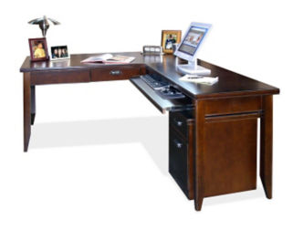 Reversible L-Desk with Rolling File, D31165