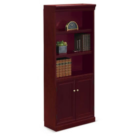 "Cumberland Five Shelf Bookcase with Doors - 72""H, B34682"