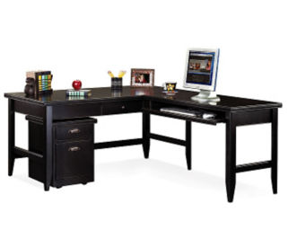 L-Desk with Rolling File, D35067