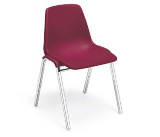 Stack Chair with Chrome Frame, C60120