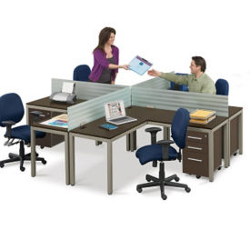 At Work Compact L Desk Workstation, D35190