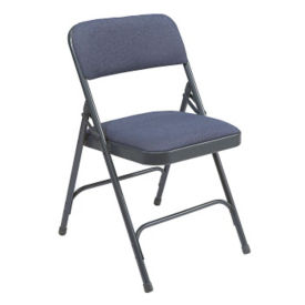 Double Hinged Fabric Seat & Back Folding Chair, C50143