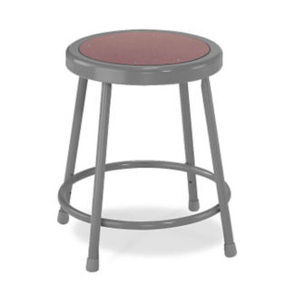 "18""H Stool with Masonite Seat, C70433"