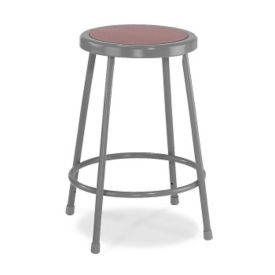 "24""H Stool with Masonite Seat, C70434"