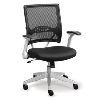 Mesh Back Fabric Seat Computer Chair, C80376