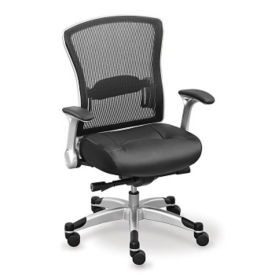 Mesh Back Leather Seat Task Chair, C80384