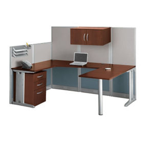 U-Workstation with Panels, D30163