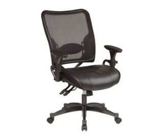 Task Chair with Black Leather Seat, C80075