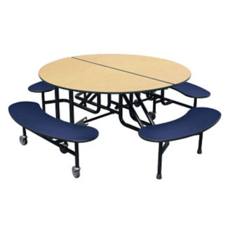 "Round 4 Bench Mobile Cafeteria Table - 27""H , K10045"