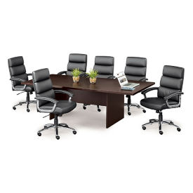 Segment Faux Leather Conference Chairs - Set of Six, T11898