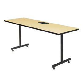 "Training Table with Data port Module - 24"" x 66"", T11472"
