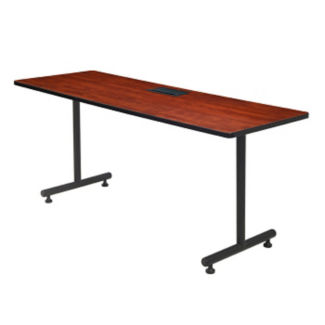 "Training Table with Dataport Module - 24"" x 60"", T11471"