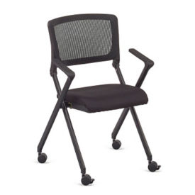 Linear Vertical Mesh Back Nesting Chair with Memory Foam Seat, C80454