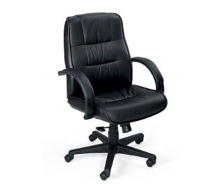 Leather Mid-Back Chair, C80084