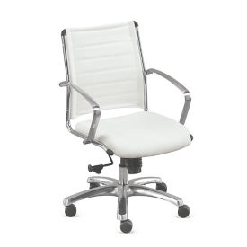 Mid-Back Leather Conference Chair, C80489