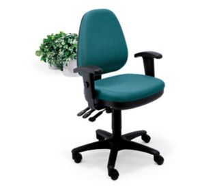 High Back Chair with Adjustable Arms, C80088