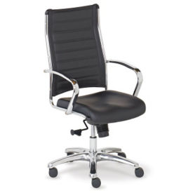 High-Back Bonded Leather Conference Chair, C80444