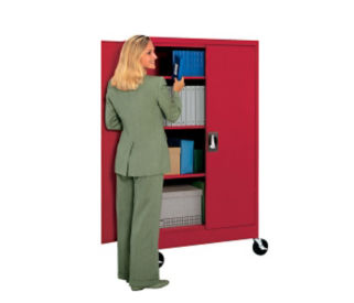 "Mobile Storage Cabinet 78"" High x 46"" Wide, D31137"