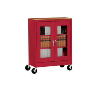 """ClearView Mobile Cabinet 36"""" Wide x 18"""" Deep x 48"""" High, D31138"""