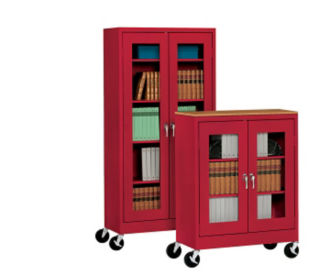 """ClearView Mobile Cabinet 36"""" Wide x 24"""" Deep x 78"""" High, D31143"""