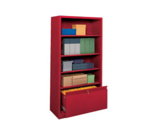 "Bookcase with File Drawer 72"" High, D32127"