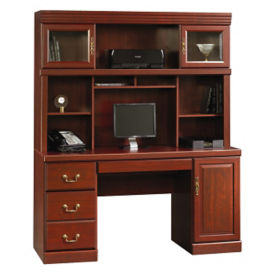"""Traditional Credenza with Hutch - 20.5"""" D x 58.5"""" W, D35132"""