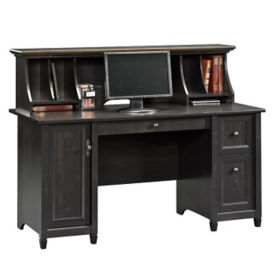 Edge Water Computer Desk with Hutch, D31172