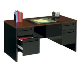 "Steel Executive Desk - 60"" x 30"", D30355"