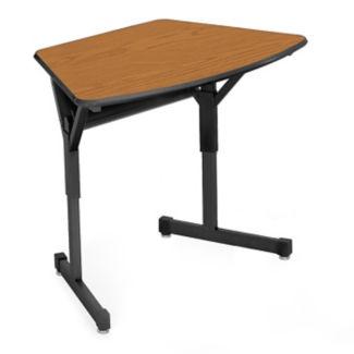 "Arc Shape School Desk - 22""D, D35341"