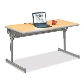 "Adjustable Height Computer Table 60"" x 30"", E10213"