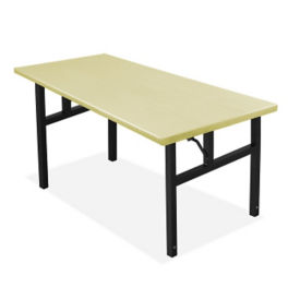 "Aluminum Folding Table with H-Style Leg 36"" W x 72"" L, T10250"