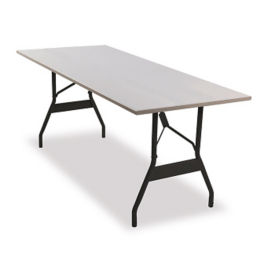 "Aluminum Folding Table 36""x60"" with Wishbone Style Legs, T10924"