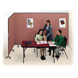 "5 Panel Wall Partition 9'2""w x 6'h, F40962"