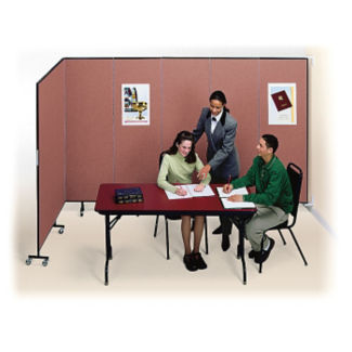 "13 Panel Wall Partition 23'10""w x 8'h, F40981"