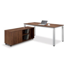 "Table Desk with Low Credenza - 71""W, D35244"