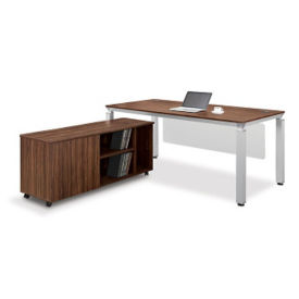Table Desk with Modesty Panel and Credenza, D35245