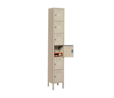 Six Tier Box Lockers 3 Wide With Legs, D23029