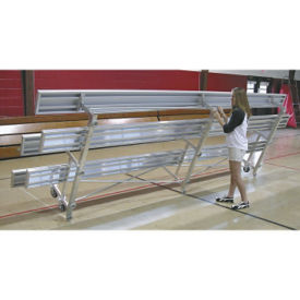 Tip And Roll Bleacher with 3 Rows 15' Long, F40275