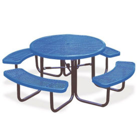 Portable Outdoor Round Table with Diamond Pattern, T10869