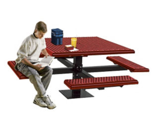 Outdoor Square Table with In Ground Mount, T10877