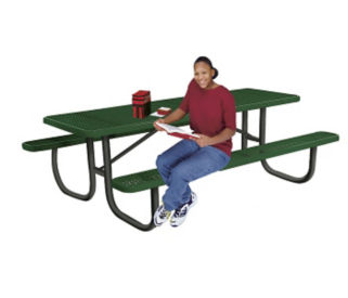 Portable Outdoor Rectangular 6' Table with Perforated Pattern, T10883