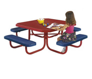 Child's Square Outdoor Table, T10887