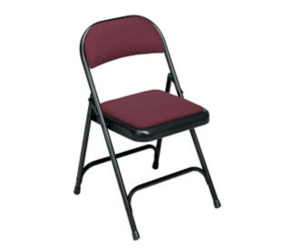 Fabric Seat and Back Folding Chair, C52024